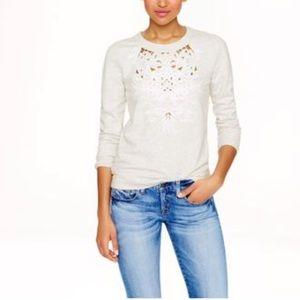 3/$30 J.Crew Floral Cutout Sweatshirt